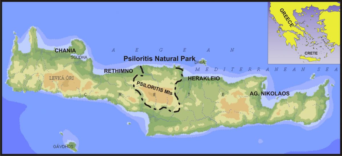 Maps Psiloritis Natural Park Unesco Global Geopark